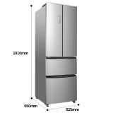 容声(Ronshen) 320升 多门四门电冰箱 风冷无霜 电脑控温 变温抽屉 节能静音卡其银 BCD-320WD11MY