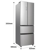 容聲(Ronshen) 320升 多門四門電冰箱 風冷無霜 電腦控溫 變溫抽屜 節能靜音卡其銀 BCD-320WD11MY