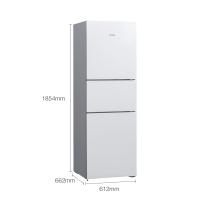 西门子(SIEMENS) 274升 混冷无霜三门冰箱 零度保鲜 三循环(象牙白) BCD-274W(KG28UA220C)