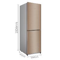 美的(Midea)186升 风冷无霜 家用大容量 两门冰箱 BCD-186WM 爵士棕