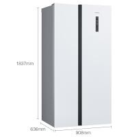 西门子(SIEMENS) 502升 变频风冷无霜对开门冰箱 超薄 简约设计(白色) BCD-502W(KA50NE20TI)