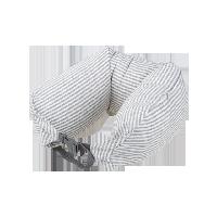 日式多功能颈枕 针织款浅棕条纹