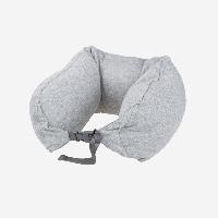 日式多功能颈枕 针织款浅灰纯色