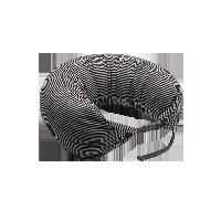 日式多功能颈枕 针织款黑灰条纹双扣款