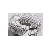 日式多功能颈枕 针织款灰白条纹双扣款