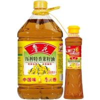 鲁花 食用油 非转基因 物理压榨 特香菜籽油 5L