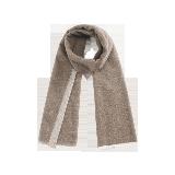 双面雅致纯羊毛围巾双面驼色
