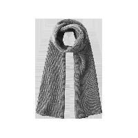 极简纯羊毛针织围巾灰色