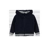 小童条纹针织外套 1-8岁蓝色*80cm