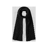 极简纯羊毛针织围巾黑色