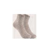 女式温暖毛圈底中筒袜浅驼(两双装)