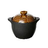 中式耐高溫養生陶瓷煲【3.5L古銅色】3-6人