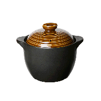 中式耐高温养生陶瓷煲【3.5L古铜色】3-6人