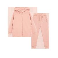儿童连帽运动套装(上衣+裤子)1-16岁粉色*110cm