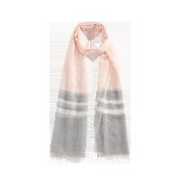 女式淡雅丝光轻薄羊毛围巾粉色