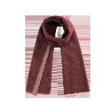 双面雅致纯羊毛围巾双面绛红色