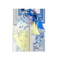 航海印花 女式100%真丝大方巾海洋蓝