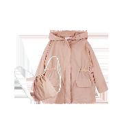儿童轻薄风衣(含收纳袋) 4-16岁粉色*120cm