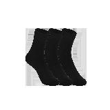 女式原野系列中筒袜黑色(三双装)