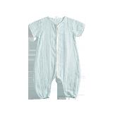 柔軟雙層紗分腿睡袋天空藍棉花朵朵提花款*90/48