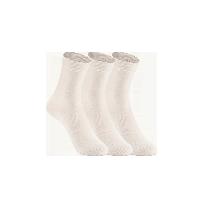 女式原野系列中筒袜白色(三双装)