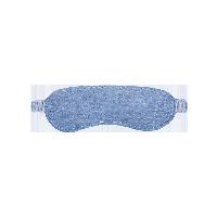 黑科技 溫涼親膚雙面兩用眼罩藍色