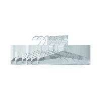 铝制洗涤用衣架 6只装银白色小号6只装