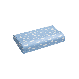 泰国制造 低枕乳胶枕 青少年款枕芯+蓝色枕套