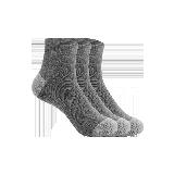 男式简约运动短袜灰色(三双装)