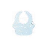 棉围兜围嘴口水兜 全方位呵护防水小书虫 蓝色