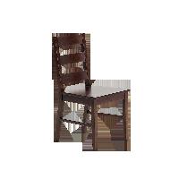 YEATION唐宁街系列实木餐椅(两把)胡桃木色