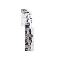 航海系列 100%真丝斜纹绸长巾优雅灰