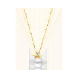 日本AKOYA海水珍珠 璀璨18K金项链项链