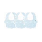 棉围兜围嘴口水兜 全方位呵护防水小书虫 蓝色三条装