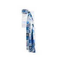 航海系列 100%真丝斜纹绸长巾海洋蓝