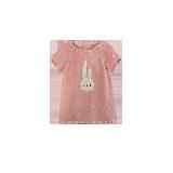 女童图案短袖针织裙 1-8岁粉色*80cm
