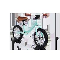 儿童平衡车滑步车绿色
