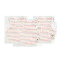 棉围兜围嘴口水兜 全方位呵护多彩条纹3条换洗装