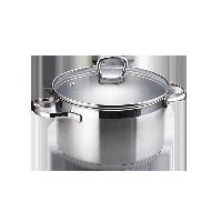 不锈钢汤锅20cm口径/约3.6L容量/有盖/直火电磁炉通用