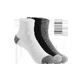 男式简约运动短袜黑色/白色/灰色/(混色三双装)