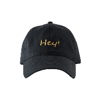 凤梨情侣棒球帽黑色Hey