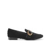 女式格纹中性平底鞋黑色*38