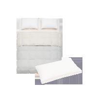 升级保暖甜睡组合200*230cm白色1150g+抗菌防螨枕