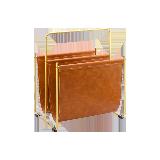 流光·金属皮质杂志架焦糖棕