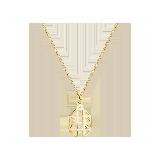 银镀金  小凤梨项链项链