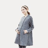 轻盈保暖孕妇A型双排扣开衫M(160/90C)