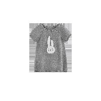 女童图案短袖针织裙 1-8岁灰色*90cm