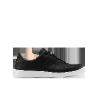 男式轻潮结构皮面滑板鞋黑色*42