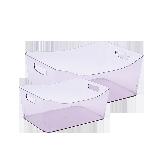 PS透明收纳篮 2件装透明紫2件装