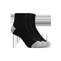 男式简约运动短袜黑色(三双装)